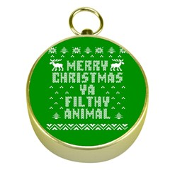 Ugly Christmas Sweater Gold Compasses