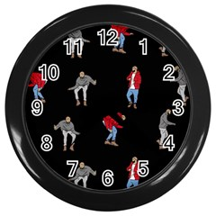 Drake Ugly Holiday Christmas Wall Clocks (black)
