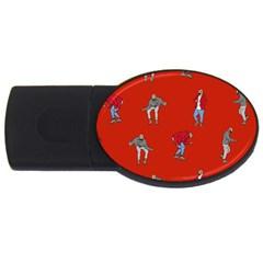 Drake Ugly Holiday Christmas USB Flash Drive Oval (2 GB)