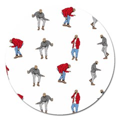 Drake Ugly Holiday Christmas Magnet 5  (round)