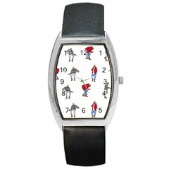 Drake Ugly Holiday Christmas Barrel Style Metal Watch