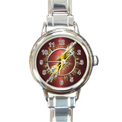 Flash Flashy Logo Round Italian Charm Watch
