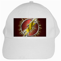 Flash Flashy Logo White Cap