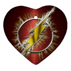Flash Flashy Logo Ornament (heart)