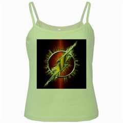 Flash Flashy Logo Green Spaghetti Tank