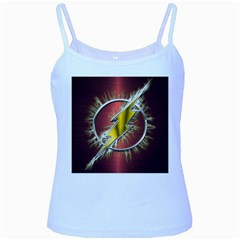 Flash Flashy Logo Baby Blue Spaghetti Tank