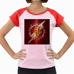 Flash Flashy Logo Women s Cap Sleeve T-Shirt