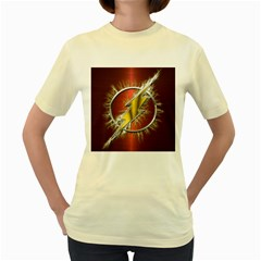 Flash Flashy Logo Women s Yellow T-Shirt