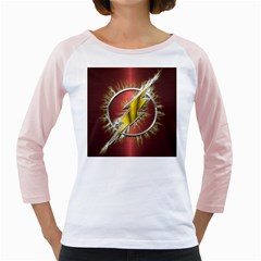 Flash Flashy Logo Girly Raglans