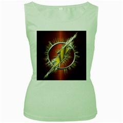 Flash Flashy Logo Women s Green Tank Top