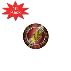 Flash Flashy Logo 1  Mini Buttons (10 pack)