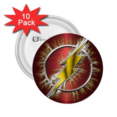 Flash Flashy Logo 2.25  Buttons (10 pack)
