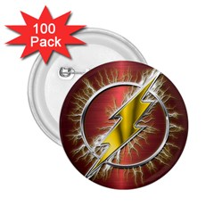 Flash Flashy Logo 2 25  Buttons (100 Pack)