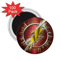 Flash Flashy Logo 2 25  Magnets (100 Pack)