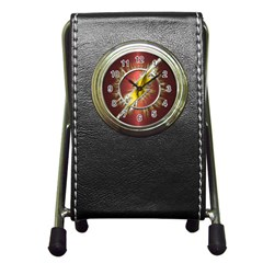 Flash Flashy Logo Pen Holder Desk Clocks