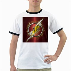 Flash Flashy Logo Ringer T-Shirts