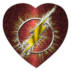 Flash Flashy Logo Jigsaw Puzzle (Heart)