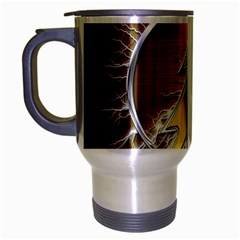 Flash Flashy Logo Travel Mug (Silver Gray)
