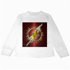 Flash Flashy Logo Kids Long Sleeve T Shirts
