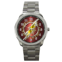 Flash Flashy Logo Sport Metal Watch