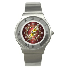 Flash Flashy Logo Stainless Steel Watch