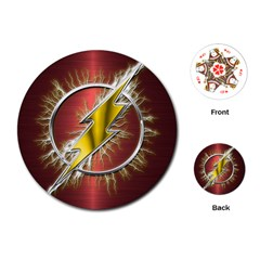 Flash Flashy Logo Playing Cards (Round)