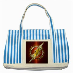 Flash Flashy Logo Striped Blue Tote Bag