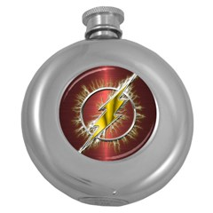 Flash Flashy Logo Round Hip Flask (5 oz)