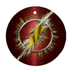 Flash Flashy Logo Round Ornament (Two Sides)