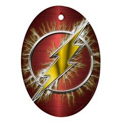 Flash Flashy Logo Oval Ornament (Two Sides)
