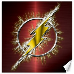 Flash Flashy Logo Canvas 12  x 12