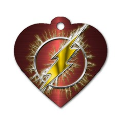 Flash Flashy Logo Dog Tag Heart (Two Sides)
