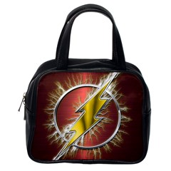 Flash Flashy Logo Classic Handbags (One Side)