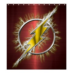 Flash Flashy Logo Shower Curtain 66  x 72  (Large)