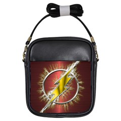 Flash Flashy Logo Girls Sling Bags