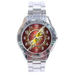 Flash Flashy Logo Stainless Steel Analogue Watch