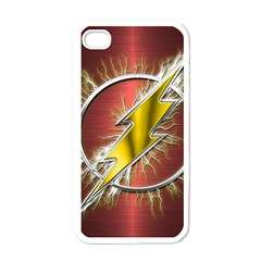 Flash Flashy Logo Apple iPhone 4 Case (White)