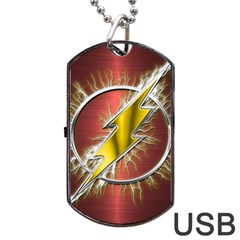 Flash Flashy Logo Dog Tag Usb Flash (two Sides)