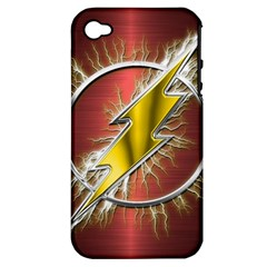 Flash Flashy Logo Apple iPhone 4/4S Hardshell Case (PC+Silicone)