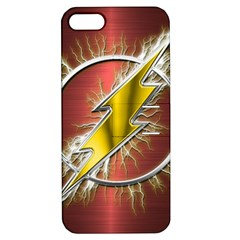 Flash Flashy Logo Apple iPhone 5 Hardshell Case with Stand