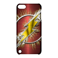 Flash Flashy Logo Apple iPod Touch 5 Hardshell Case with Stand