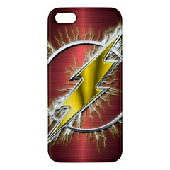 Flash Flashy Logo Apple iPhone 5 Premium Hardshell Case