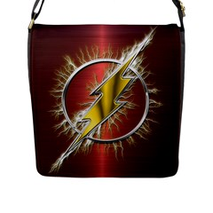 Flash Flashy Logo Flap Messenger Bag (L)