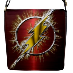 Flash Flashy Logo Flap Messenger Bag (S)