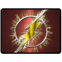 Flash Flashy Logo Double Sided Fleece Blanket (Large)