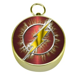Flash Flashy Logo Gold Compasses
