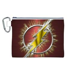 Flash Flashy Logo Canvas Cosmetic Bag (L)