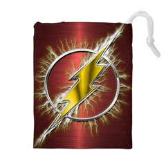 Flash Flashy Logo Drawstring Pouches (extra Large)