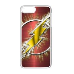 Flash Flashy Logo Apple iPhone 7 Plus White Seamless Case