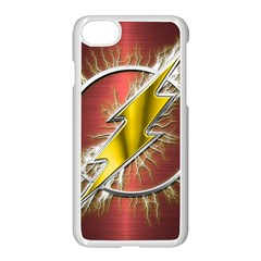 Flash Flashy Logo Apple iPhone 7 Seamless Case (White)